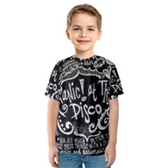 Panic ! At The Disco Lyric Quotes Kids  Sport Mesh Tee