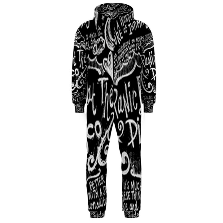 Panic ! At The Disco Lyric Quotes Hooded Jumpsuit (Men)
