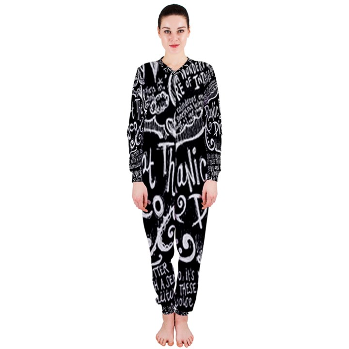 Panic ! At The Disco Lyric Quotes OnePiece Jumpsuit (Ladies)