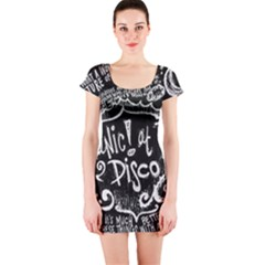 Panic ! At The Disco Lyric Quotes Short Sleeve Bodycon Dress