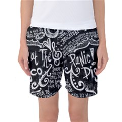 Panic ! At The Disco Lyric Quotes Women s Basketball Shorts