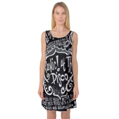 Panic ! At The Disco Lyric Quotes Sleeveless Satin Nightdress