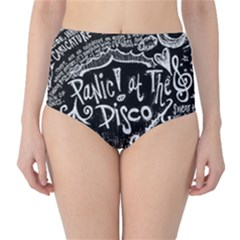 Panic ! At The Disco Lyric Quotes High-Waist Bikini Bottoms