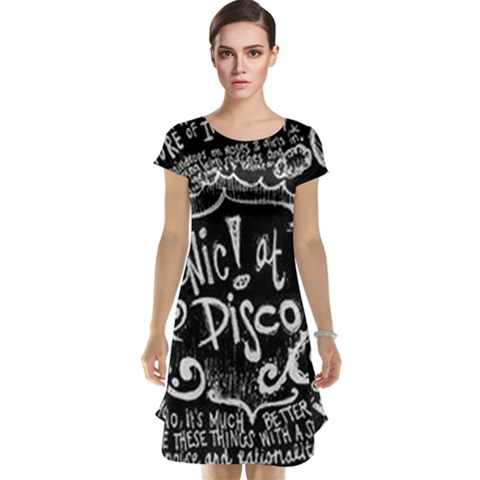 Panic ! At The Disco Lyric Quotes Cap Sleeve Nightdress
