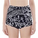 Panic ! At The Disco Lyric Quotes High-Waisted Bikini Bottoms View1