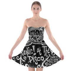 Panic ! At The Disco Lyric Quotes Strapless Bra Top Dress