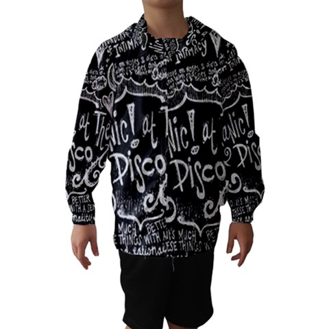 Panic ! At The Disco Lyric Quotes Hooded Wind Breaker (Kids)