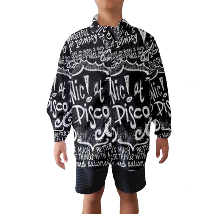 Panic ! At The Disco Lyric Quotes Wind Breaker (Kids)