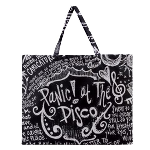 Panic ! At The Disco Lyric Quotes Zipper Large Tote Bag
