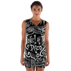 Panic ! At The Disco Lyric Quotes Wrap Front Bodycon Dress