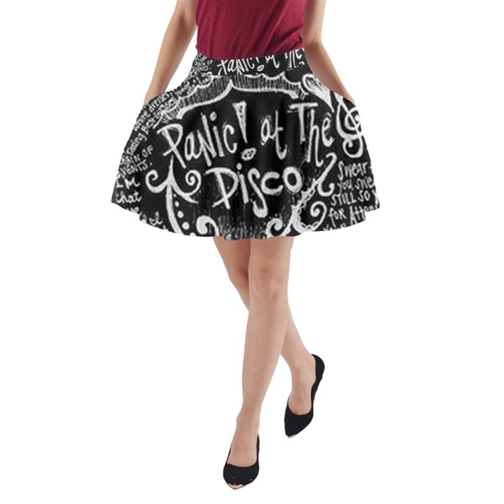 Panic ! At The Disco Lyric Quotes A-Line Pocket Skirt