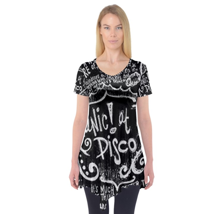 Panic ! At The Disco Lyric Quotes Short Sleeve Tunic
