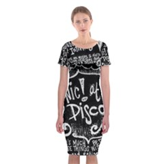 Panic ! At The Disco Lyric Quotes Classic Short Sleeve Midi Dress