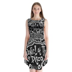 Panic ! At The Disco Lyric Quotes Sleeveless Chiffon Dress