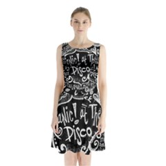 Panic ! At The Disco Lyric Quotes Sleeveless Chiffon Waist Tie Dress