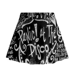 Panic ! At The Disco Lyric Quotes Mini Flare Skirt