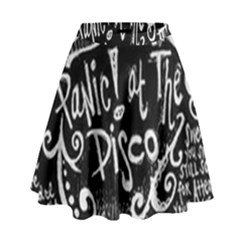 Panic ! At The Disco Lyric Quotes High Waist Skirt