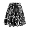 Panic ! At The Disco Lyric Quotes High Waist Skirt View1