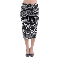 Panic ! At The Disco Lyric Quotes Midi Pencil Skirt