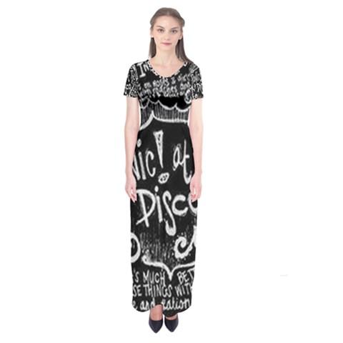 Panic ! At The Disco Lyric Quotes Short Sleeve Maxi Dress