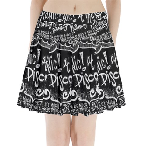Panic ! At The Disco Lyric Quotes Pleated Mini Skirt