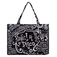 Panic ! At The Disco Lyric Quotes Medium Zipper Tote Bag