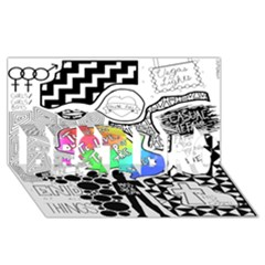 Panic ! At The Disco BEST BRO 3D Greeting Card (8x4)