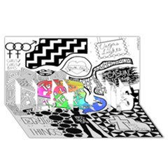 Panic ! At The Disco Best Sis 3d Greeting Card (8x4)