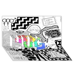 Panic ! At The Disco HUGS 3D Greeting Card (8x4)