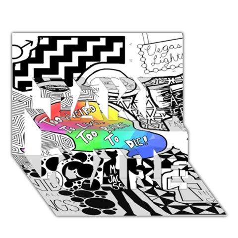 Panic ! At The Disco TAKE CARE 3D Greeting Card (7x5)