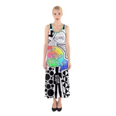 Panic ! At The Disco Sleeveless Maxi Dress