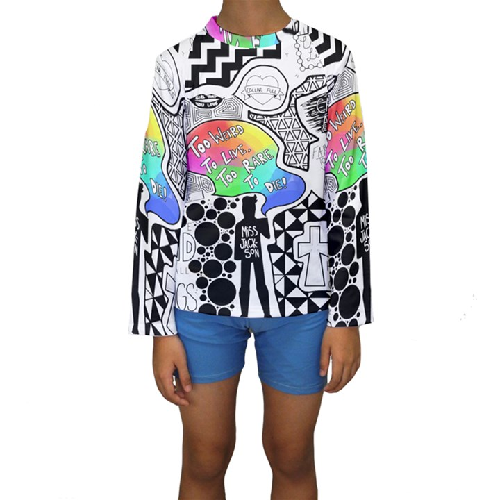 Panic ! At The Disco Kids  Long Sleeve Swimwear