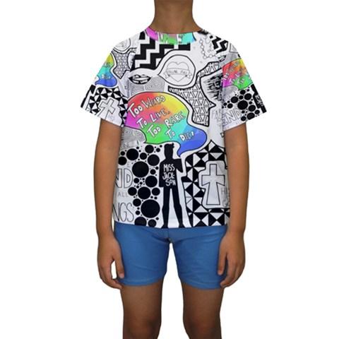 Panic ! At The Disco Kids  Short Sleeve Swimwear