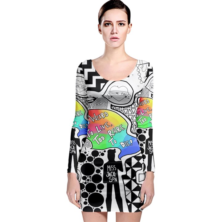 Panic ! At The Disco Long Sleeve Bodycon Dress