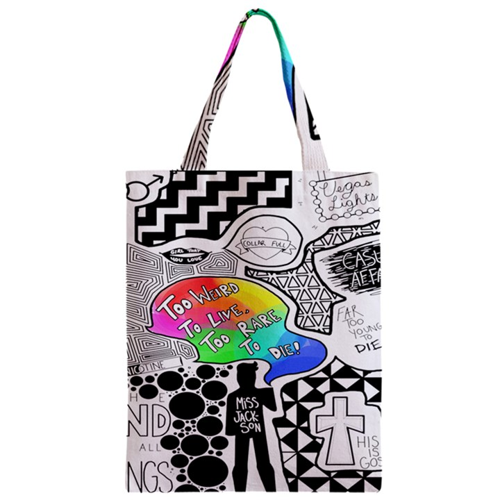 Panic ! At The Disco Zipper Classic Tote Bag