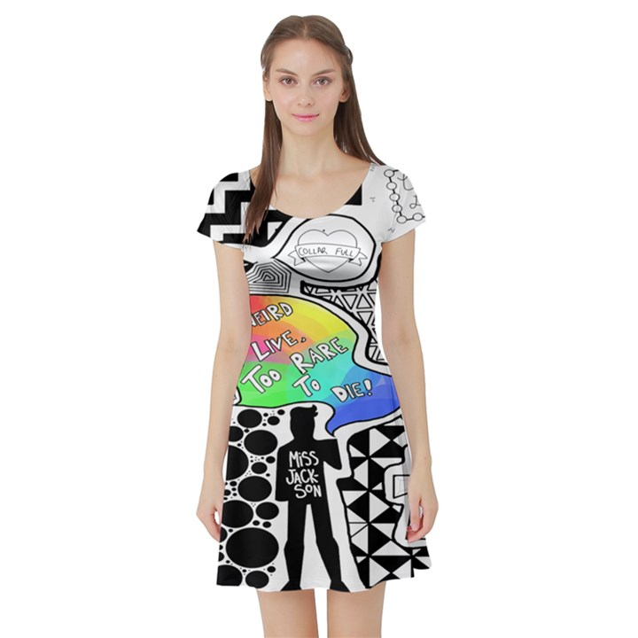 Panic ! At The Disco Short Sleeve Skater Dress
