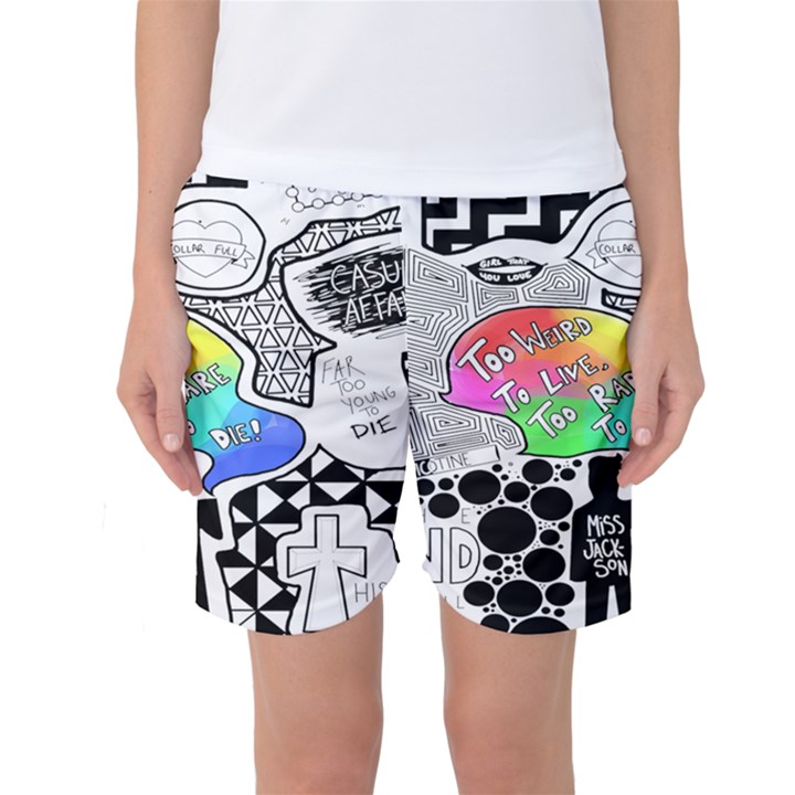 Panic ! At The Disco Women s Basketball Shorts