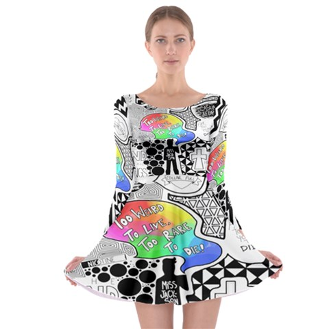 Panic ! At The Disco Long Sleeve Skater Dress