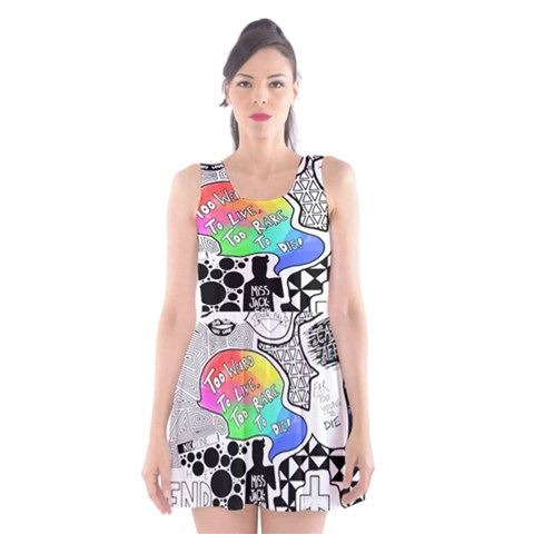 Panic ! At The Disco Scoop Neck Skater Dress