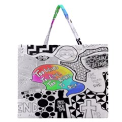 Panic ! At The Disco Zipper Large Tote Bag