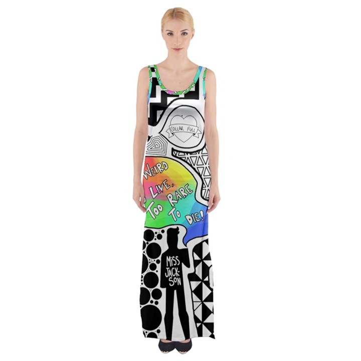 Panic ! At The Disco Maxi Thigh Split Dress