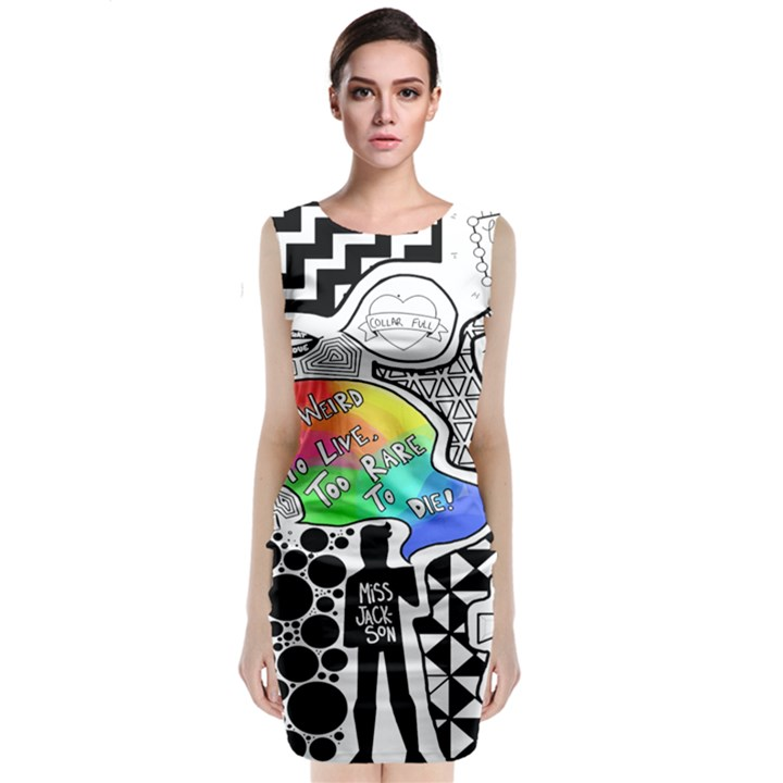 Panic ! At The Disco Classic Sleeveless Midi Dress