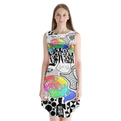 Panic ! At The Disco Sleeveless Chiffon Dress