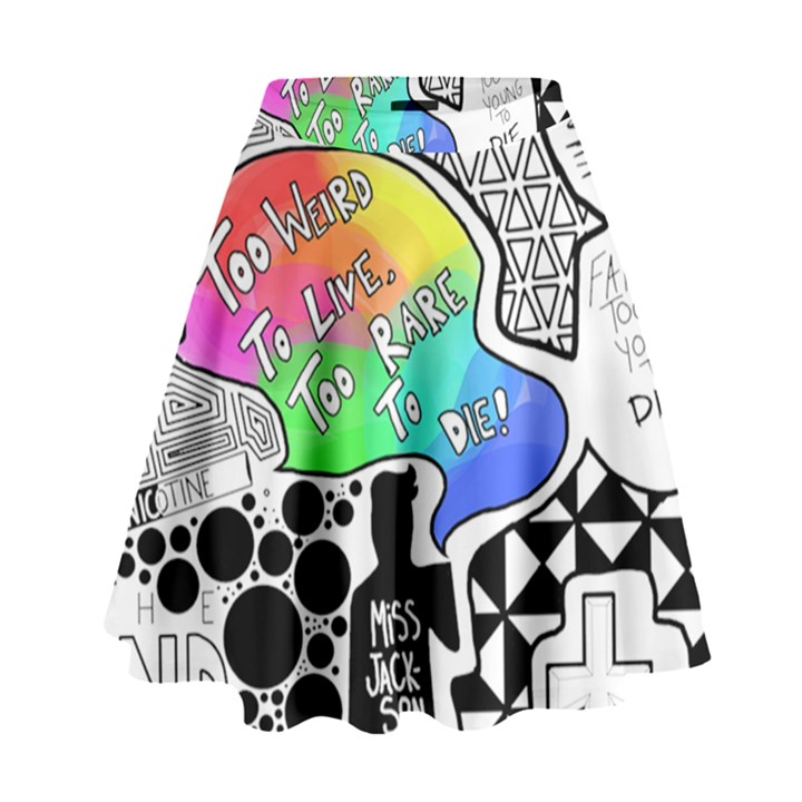 Panic ! At The Disco High Waist Skirt