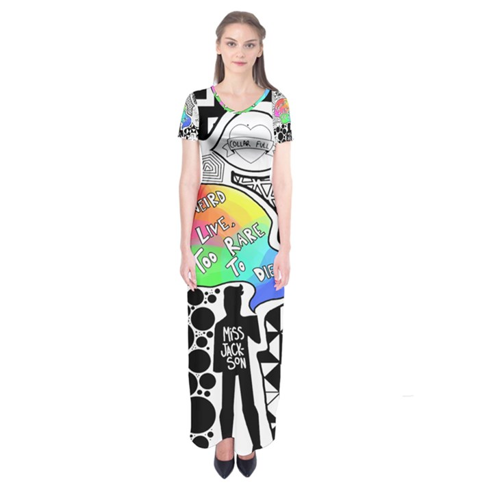 Panic ! At The Disco Short Sleeve Maxi Dress