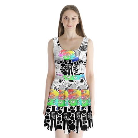 Panic ! At The Disco Split Back Mini Dress