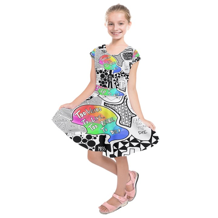Panic ! At The Disco Kids  Short Sleeve Dress