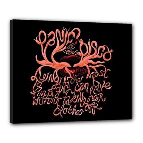 Panic At The Disco   Lying Is The Most Fun A Girl Have Without Taking Her Clothes Canvas 20  x 16
