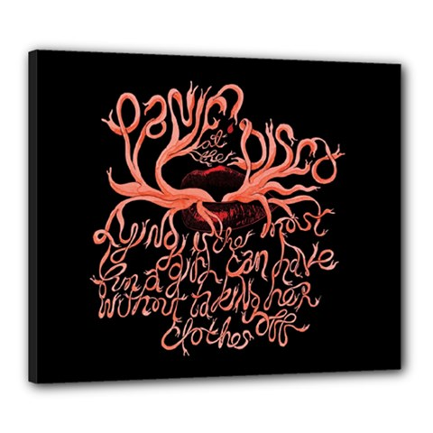 Panic At The Disco   Lying Is The Most Fun A Girl Have Without Taking Her Clothes Canvas 24  x 20