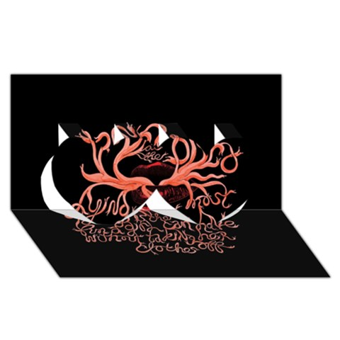 Panic At The Disco   Lying Is The Most Fun A Girl Have Without Taking Her Clothes Twin Hearts 3D Greeting Card (8x4)